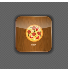 Pizza wood application icons vector image vector image