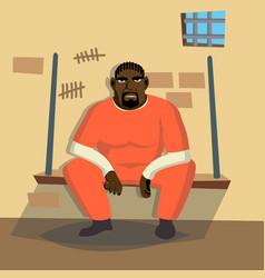 Prisoner man criminal man arrested and vector