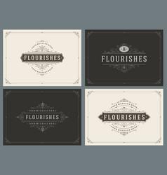 Sale tags and labels design vintage set vector