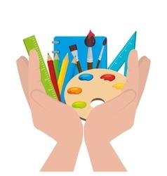 school supplies design vector image