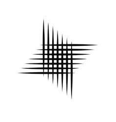 Symbol of perpendicular lines vector