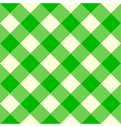 Tablecloth pattern green vector