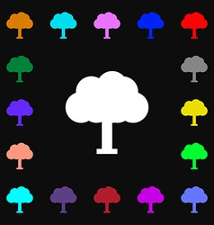 Tree forest icon sign lots of colorful symbols for vector