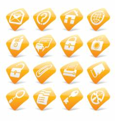 website and internet icons vector image vector image