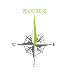 wind rose progress vector image