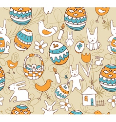 Easter seamless background with a childrens vector