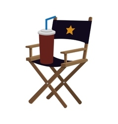 Director chair cinema movie design vector