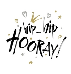 Hip hip hooray - modern calligraphy text vector