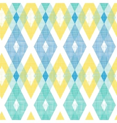 Colorful fabric ikat diamond seamless pattern vector