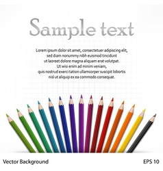 Wooden pencils on sheet vector image