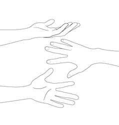 hand set A vector image