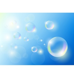 bubbles against the blue sky vector image