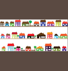 Neighborhood with colorful homes vector