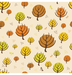 Autumn trees pattern for design wrapping paper vector