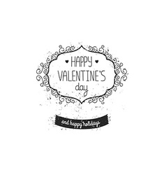 Vintage love label for greeting card vector