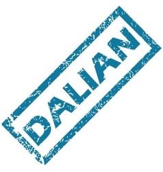 Dalian rubber stamp vector