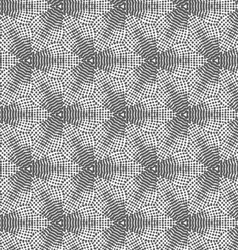 Gray dotted halftone flowers vector