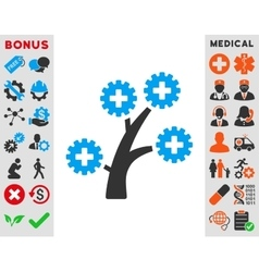 Medical technology tree icon vector