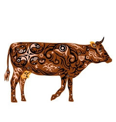 Cow color of coffee vector
