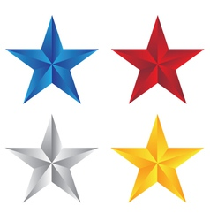 stars with different color vector image