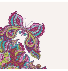 Floral background with decorative colorful vector