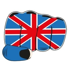 Flag of the england on fist vector image