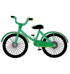Small green bike vector