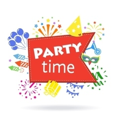 Party time sign holiday celebration emblem vector