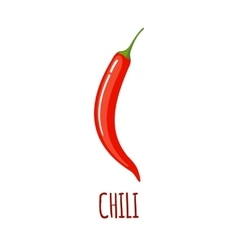 Chili icon in flat style on white background vector