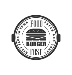 Best burger in town label design vector