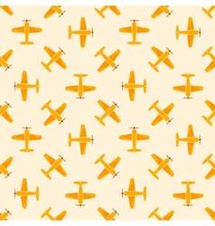 Airplane yellow seamless patten vector