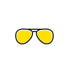 aviator sunglasses icon vector image