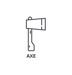 axe line icon outline sign linear symbol vector image