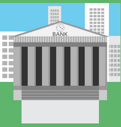 Bank building design flat vector image