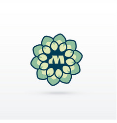 Beautiful flower or mandala style logo design vector