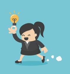 Business woman run show idea vector