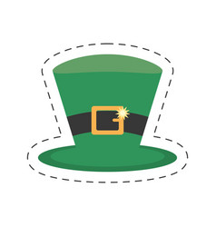 cartoon st patricks day hat icon vector image