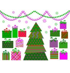 christmas tree 6 vector image vector image