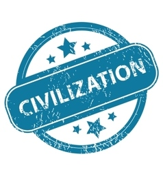 Civilization round stamp vector
