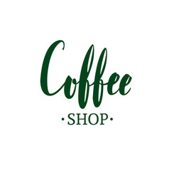 coffee shop emblem vector image