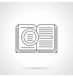 Criminalistics literature flat line icon vector
