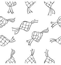 Doodle of eid mubarak theme vector