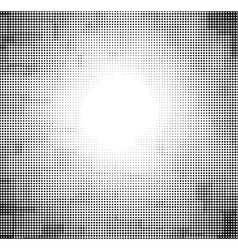 Halftone abstract sky with might in black and whit vector