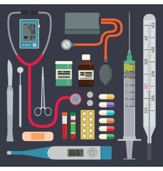 Hospital - Medical Instruments vector image vector image