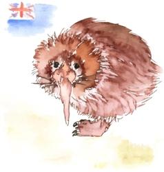 Kiwi bird vector image
