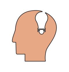 profile head idea light icon vector image