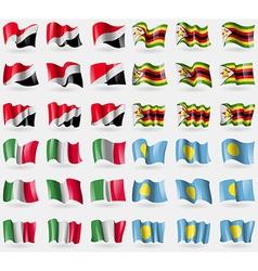 Sealand principality zimbabwe italy palau set of vector