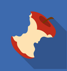 Stub of apple icon in flate style isolated on vector