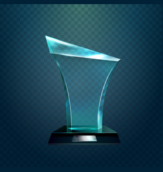 transparent glassware trophy or prize vector image