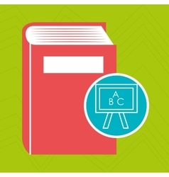 Book literature library icon vector